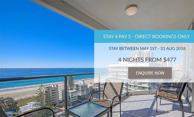 Surfers Paradise holiday accommodation specials