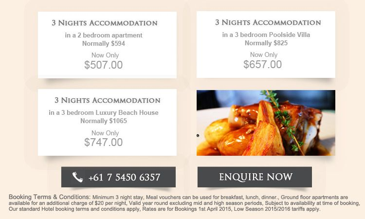 accommodation specials Marcoola