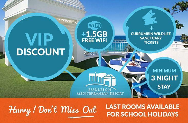 Burleigh Heads accommodation school holidays specials