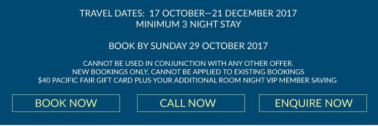 accommodation specials at Burleigh Heads